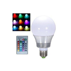 RGB LED lampa med fjärrkontroll E27 10 W