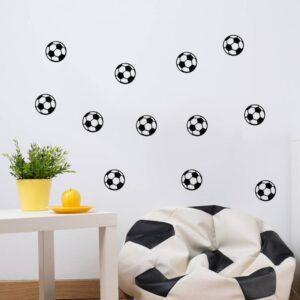 Fotboll vinyl vägg klistermärken 20 st/förp