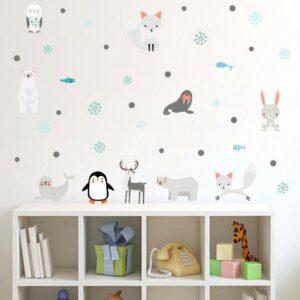 Arktiska djur vinyl vägg klistermärken
