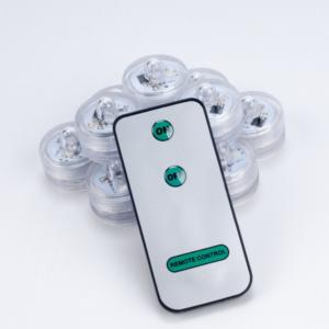 10 st/förp Mini LED lampor vattentät med 1 fjärrkontroll