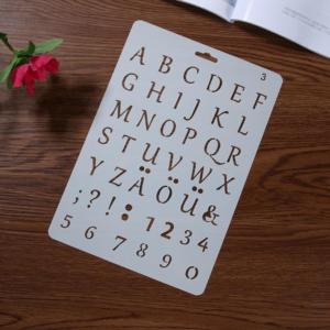 Svenska bokstäver schablon med siffror v2
